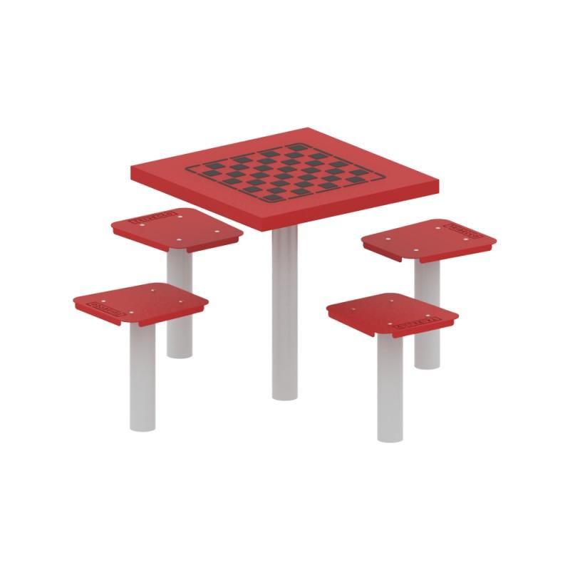 Stolik do gry planszowej czteroosobowy - szachy