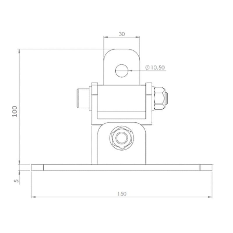 Mocowanie huśtawki geomet MHL-03