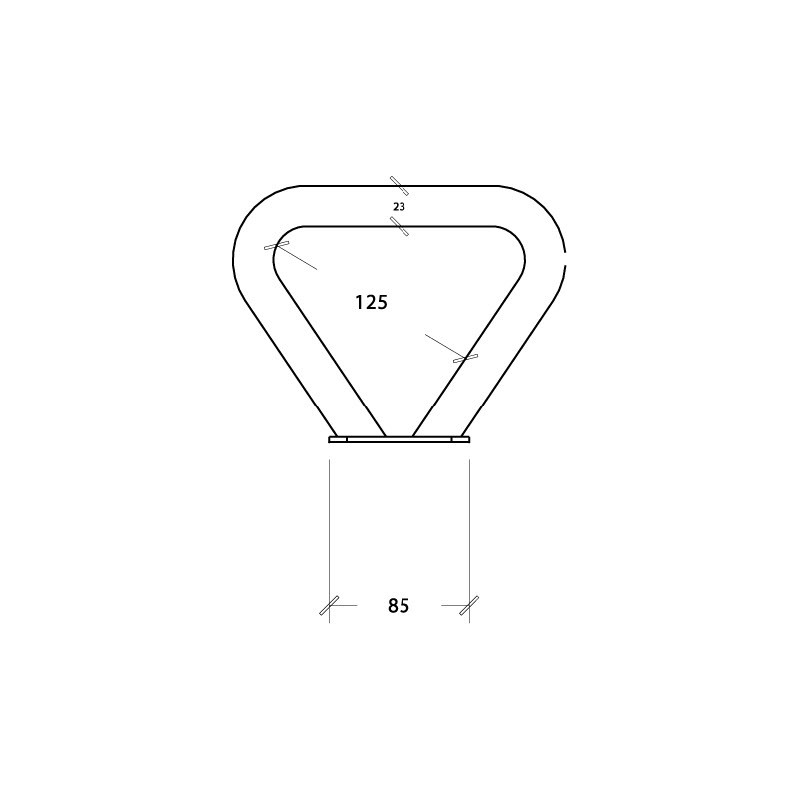 Metalowy uchwyt równoważni inox - belka kwadratowa