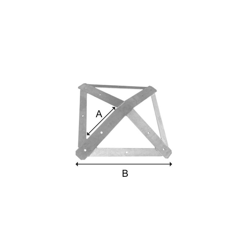 Zwieńczenie do altany czterokątne