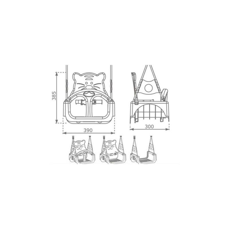 Huśtawka kubełkowa 3w1 - Trix