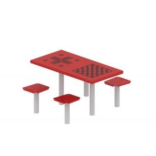 Stolik podwójny do gry planszowej szachy i chińczyk