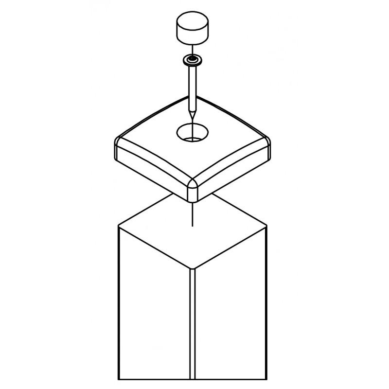 Nasadka na belkę kwadratową 90x90 mm