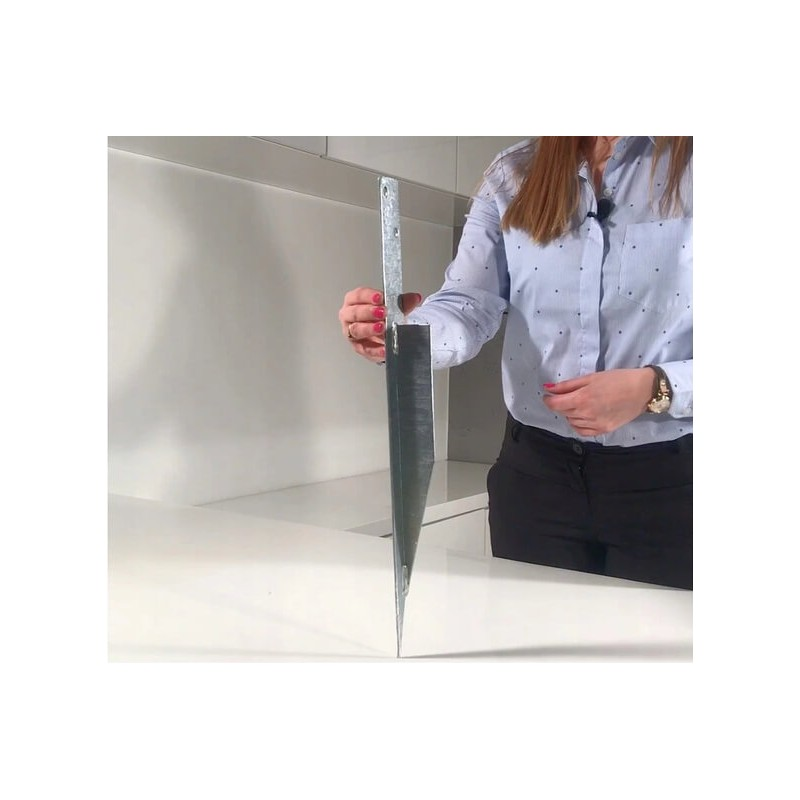 Zestaw montażowy do huśtawki podwójnej na belkę kwadratową   100°