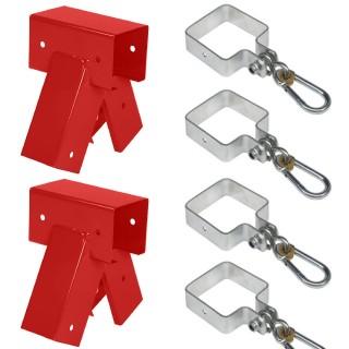 Zestaw montażowy łączniki i zawiesia | 90°