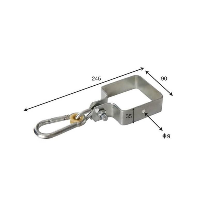 Zestaw montażowy pojedynczy łączniki 90x90, mocowania, kotwy, torx |100°