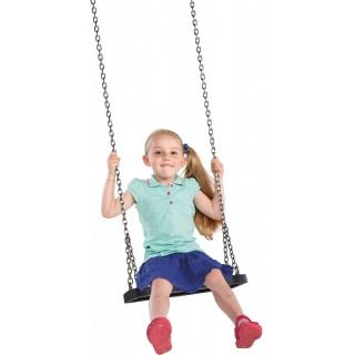 """Siedzisko gumowe na plac zabaw """"Curve"""" z łańcuchem ze stali nierdzewnej"""