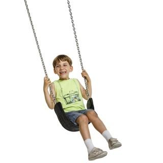 """Siedzisko gumowe elastyczne na plac zabaw """"Curve"""" z łańcuchem ze stali nierdzewnej"""