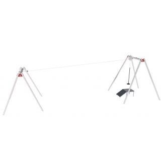 Zjazd linowy z siedziskiem na publiczny plac zabaw inox