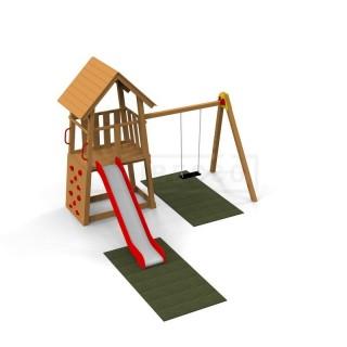 Nawierzchnia bezpieczna na plac zabaw 240x120x1,6 cm