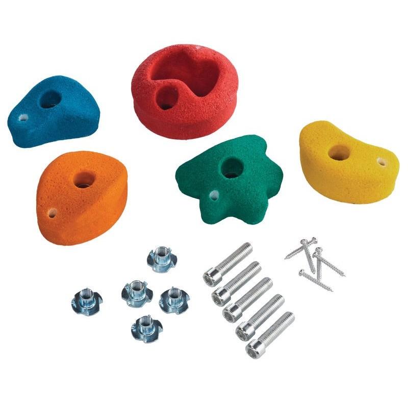 Kamienie wspinaczkowe z masy na plac zabaw