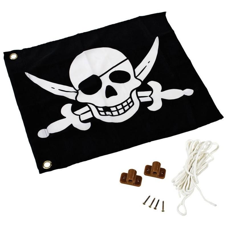 Flaga z systemem podnoszenia na plac zabaw